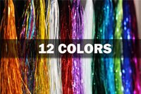 12 цветов Flashabou Tinsel Flat Mylar Crystal Flash Fly Tying Materials
