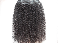 髪の伸びの中のモンゴルの人間の処女のジェリーの巻き片のクリップ未処理の天然の黒い色を染めることができます