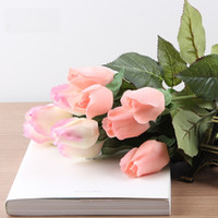 Real Touch Elegant PU Rose Artificial Flowers Simulation Chr...