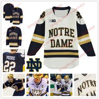 3c16e9f25 Custom Notre Dame Fighting Irish 18 Jake Evans 32 Morris Oglevie Any Name  Number Big Ten Navy Blue White College Hockey Stitched Jerseys