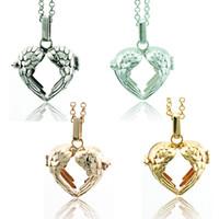 Collana pendente di moda Baby Musical Chime Ball 4 colori cuore gabbia collana di angelo per i monili delle donne