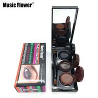 Wholesale- Makeup Musik Blumen 3 Farben Augenbraue Pulver Eyeliner Gel 24h Lasting Wasserdicht wischfest Kosmetik Augenbraue Sahne