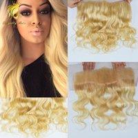 Новый продукт швейцарский шнурок объемная волна волос закрытие #613 лобной 13*4 шелковистые мягкие волосы перуанский человеческих волос отбеленные узлы