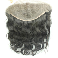 DHL ship Human Hair Brazilian Lace Frontal Closure 13x6 With...
