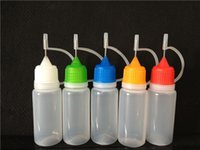 ZJ пластиковая бутылка иглы для электронной жидкости с красочной крышкой e жидкие бутылки 5 мл/10 мл/15 мл/20 мл/30 мл доступный завод оптом отflying2013