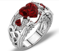 New Lady Heart- shaped Ruby Engagement Ring