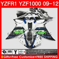 Corps Pour YAMAHA blanc noir YZF 1000 R 1 YZFR1 09 10 11 12 Carrosserie 85NO63 YZF1000 YZF R1 2009 2010 2011 2012 YZF-1000 YZF-R1 09 12 Coiffe
