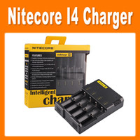 Nitecore I4 Chargeur Chargeur universel pour 18650 16340 26650 10440 14500 AA AAA Chargeur de batterie Nitecore Batterie Li-sur batterie DHL 0205007
