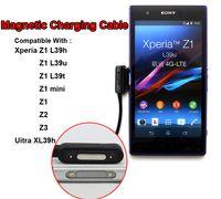 Adaptador de cargador de cable de carga magnético USB para Sony Xperia Z1 Z2 Z3 L39H L39T L36U L36h DK30 DK31 Ultra XL39H Z1 Mini Z2 Compact Tablet Z2