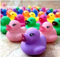 Животные Красочный Мягкие резиновый Float Сожмите Звук Squeaky Игрушки для ванной Классических резиновой утки Пластиковых ванной комнаты Бассейн Игрушка Подарки