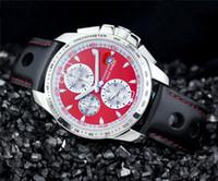 Fre shippng hombres del deporte de la moda relojes de cuarzo reloj cronógrafo cronómetro masculino banda reloj de pulsera deportivo de cuero 539