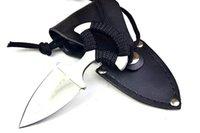 aço frio versão de cartão de couro corda presente Faca Pocket Knife Faca de caça D2 1pcs do transporte livre