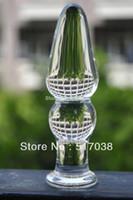 HOT Sheer Crystal pyrex glass Dildos Anal butt plugs beads Juguetes sexuales para mujeres hombres Productos para adultos Mejora de la masturbación femenina