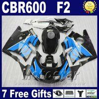 7Contenimientos Moldeo por inyección para kits de carenado HONDA cbr600 f2 91 92 93 94 carenados negro azul CBR 600 F2 1991 - 1994 FGHY