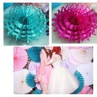 10pc Fan De Papier Peint Flocon De Neige Fan Poms Noce Décorations pour La Maison