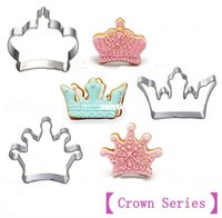 3 pcs set Crown Series]Stainless Steel Cookies Mold Cutter 3...