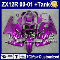 7gifts+ Tank For KAWASAKI NINJA ZX12R ZX- 12R ALL Purple 2000 ...