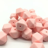 50 pcs per lot, food grade BPA free Silicone hexagon beads, Si...