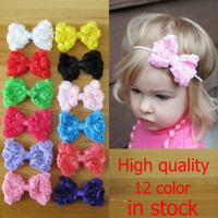 Baby Infant Kids Girl Toddler Lace Flower Bowknot Headband H...