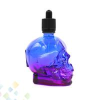 120 ML Cráneo Gotero Botellas de Vidrio 3 Colores Vacío E Botellas Líquidas de Alta calidad con Casquillo a prueba de Niños Eliquid DHL Libre