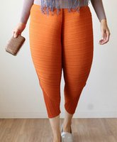 Plus Size Hot Sale Relaxed Pleated Chicken Leg Pants Elastic...