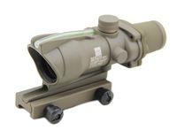 Tactical ACOG 4x32 Scope Source Scope Fibra verde reale Mirino illuminato Scope Dark Earth