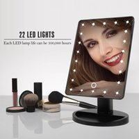 360 Degree Rotation 22 LED Lights Touch Screen Makeup Mirror...
