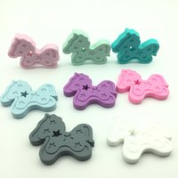 2017 new Lot of 10 pcs horse teether - Silicone horse teethe...