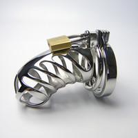 Cinturón de castidad de bloqueo de pene de metal Dispositivo de castidad masculina Jaula de gallo Pequeños anillos de metal, jaula de castidad de acero Cinturón de castidad de los hombres