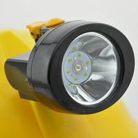 60 pezzi / lotto KL2.8LM (B) LED wireless LED Miner's Head Lamp Lamer Miner Cap Light Mining Faro per il campeggio Caccia Spedizione gratuita