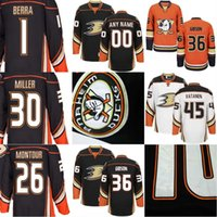 2a5296a0f Mens Anaheim Ducks Custom Jersey 26 Montour 45 Sami Vatanen 1 Reto Berra 36  John Gibson 30 Ryan Miller Hockey Jerseys