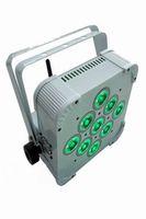 الشحن مجانا حار بيع 2015 اللاسلكية البطارية بالطاقة أدى ضوء الاسمية ضئيلة مع 9 * 15 واط rgbwa + uv 6-in-1