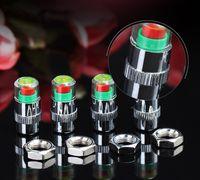 2,4 Bar Auto Reifendruckkontrollwerkzeug Kit Diebstahlsicher Abschließbar Reifen Ventilkappen Anzeige 4 Teile / satz