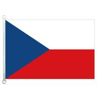 Bandeira da república checa das nações celtas bandeira bandeira 3X5FT-90x150cm 100% poliéster, 110gsm urdidura tecido de malha bandeira ao ar livre