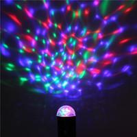Professionelle Us-stecker 5 Watt LED RGB Bühnenlicht Auto Rotierenden Kristall Laser Disco Beleuchtung Lampe DJ Led-lampe Party Tanzen Lampe 1 stück
