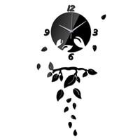 Украшение Maison Diy Кварцевые часы Часы Multi-Piece Set Needle Гостиная Современные ВС Декоративные 3d Diy зеркала настенные часы