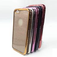 아이폰 Xs 맥스 XR X 럭셔리 블링 다이아몬드 범퍼 프레임 Iphone X 아이폰 8 7S 6 플러스 소프트 TPU 반짝이 전화 케이스 커버 전기 도금