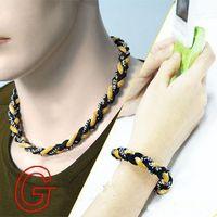 Germânio titânio 3 cordas pulseira tornado trançado ESPORTES beisebol do futebol novo tornado colar saudável moda jóias corpo