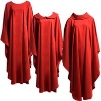 Heilige Religie Kostuums voor Clergy Red Catholic Church Priests Solid Chasuble Vestment 3 stijlen Religies Formele Robe