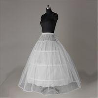 Gerçek Görüntü Beyaz 3-Hoop 1 Katmanlı Petticoats Gelin Gelinlik Gelin Crinoline Bir Çizgi Düğün Düğün Aksesuarları Vestido de Noiva