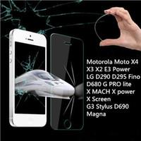 0.3 ملم الزجاج المقسى لموتورولا موتو X4 X3 X2 E3 الطاقة LG D290 D295 Fino D680 G PRO لايت X ماخ X قوة X حامي الشاشة مع أداة نظيفة