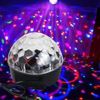 DJ Club Disco Festa KTV Bar RGB Cristal LED Bola Projetor Efeito Luz