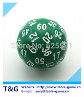 Тг кости высокое качество зеленый 60 двусторонняя D60 кости подземелье и драконы РПГ ДД дадос