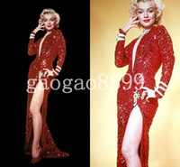 Amazing Sexy Famous Red Sequin Marilyn Monroe Dress Fashion ...