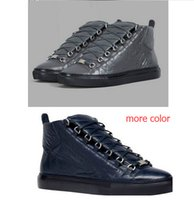 Mode masculine arena High-top en cuir véritable lacets zapatos hombre style français Sneakers kanye west chaussures