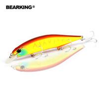 Venta al por menor de Bearking, el modelo de pesca caliente atrae cebos duros diferentes colores para elegir 120mm 18g minnow, calidad profesional minnow 2017