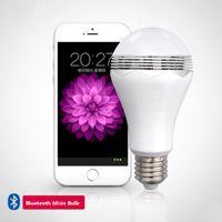 Lampe Bluetooth Music Bulbe E27 5W Ampoule LED AC185V-265V LED LED LED Cadeau de produit Prise en charge de la musique avec Bluetooth Bulbe Haut-haut-parleur LED Lampe