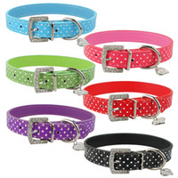 (4 sizes 6 colors) Polka Dot Dog Collar Puppy gift Cat Pets ...