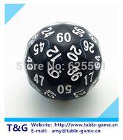 TG dés de haute qualité noir 60 faces D60 gros donjon de donjon et dragons