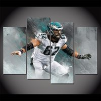 Jason Kelce Football, 4 Pieces Home Decor HD Printed Modern A...